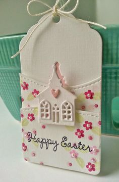 Gingham Girl: Easter Church Tag