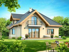 Proiecte de case cu mansarda cu patru camere - spatiu indestulator