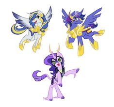 So you know Clarie, and Lance, but the other alicorn was supposed to be Luna's son.