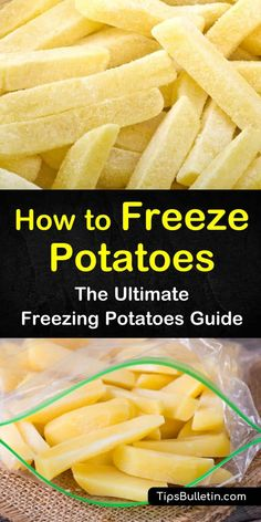 Learn how to freeze potatoes raw using blanching methods. Discover how to store mashed potatoes and french fries that have already been cooked. Try a new recipe for how to make a yummy casserole from frozen potatoes. Freezing Potatoes, Freeze Sweet Potatoes, Freezing Vegetables, Frozen Potatoes, Mashed Potatoes, Freezing Fruit, Storing Potatoes, Frozen Sweet Potato Fries, How To Store Potatoes