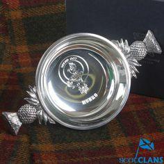 Munro Clan Crest Quaich