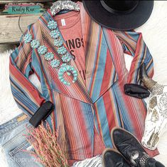 Blaze Your Trail Serape Blazer – Ruby Rue Jewelry & Accessories