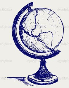 Globe sketch — Stock Photo © Kreativ #