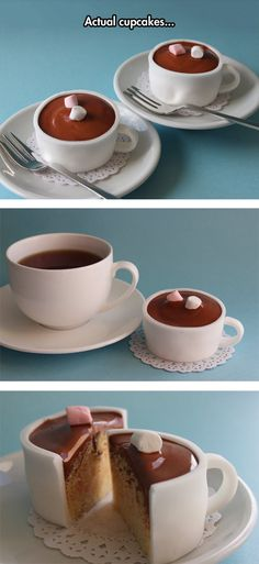 Coffee Cup Cupcake. You can also probably change the type instead of coffee.