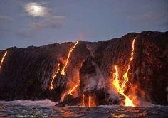 Der aktivste Vulkan der Welt: Kilauea, Hawaii.