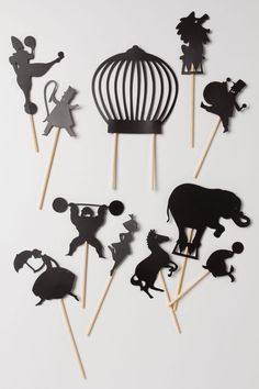 shadow puppets perfect for bedtime stories! Midnight Circus Shadow Puppets - anthropologie.com