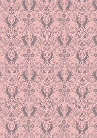 Little hares on pink