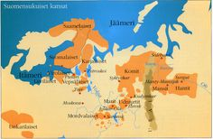 Suomen Suku Kartta - Finnish Ancestory line History Of Finland, Nc Usa, Map Pictures, Scandinavian Countries, Historical Maps, Historian, Ancient History, Family History, Archaeology