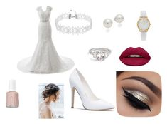 """Spring wedding 2018"" by rikerlover23456 on Polyvore featuring AK Anne Klein, Vivani, Huda Beauty and Essie"