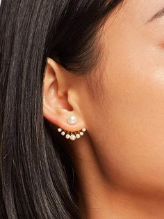 Shein Faux Pearl Swing Stud Earrings 1pair