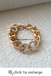 finally back in stock ... and i got it!!  :):)   Gold Pave Chain Link Bracelet