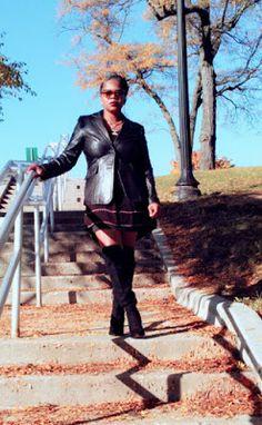 Trenaras Daily Treasures: Style/ Black dress and leather blazer