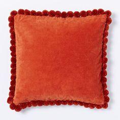 Jay Street Pom-Pom Pillow, Cayenne www.westelm.com