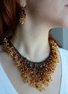 "Necklace ""Golden Autumn"" 