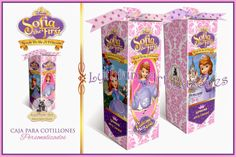 Cajas para Cotillones Personalizadas (Princesa Sofía)   Lythium Art® Design by: Yil Siritt #Favors #Cotillon #Cotillones #FiestaInfantil #SofiaTheFirst #PrincessSofia #PrincessParty #PrincesaSofia #babyshower #girlpartyideas #girly #gifts #regalos #recuerditos