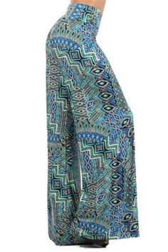 Wide Leg printed outfit Palazzo Pants   Clothing, Shoes & Accessories > Women's Clothing > Pants