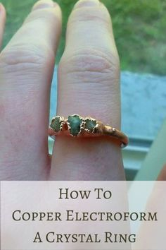 VOTE For Me! How To Copper Electroform A Ring by Brittany Witt at #PinealVisionJewelry