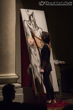 "Senigallia, Marche, Italy- The painter- Auditorium S.Rocco -Spettacolo ""Note di Colori"" -Photo by Emanuele Del Bufalo"