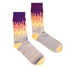 Drip Socks Grey, £7, now featured on Fab.