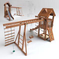 max playground play ground - Darius Ossmann - Re-Wilding Backyard Swing Sets, Kids Backyard Playground, Backyard Playset, Playground Design, Backyard For Kids, Playground Ideas, Natural Playground, Kids Outdoor Play, Kids Play Area