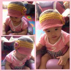 My first attempt baby hat crochet