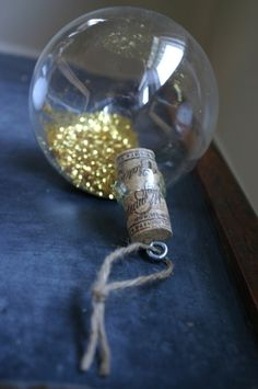 new look for glass ball ornaments w/cork tops