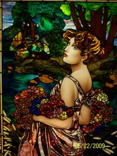 Alphonse Mucha inspired , Summer | by Stained Glass Painter / Jim M. Berberich