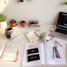 college, desk, and inspiration image