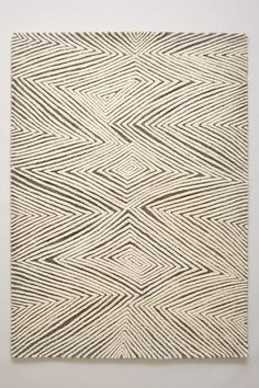 "Note: .5"" thick  for FOYER - Sand Waves Rug - anthropologie.com..comes in  4' x 6' choose in creme...under $400"