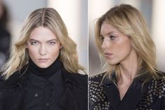 The beauty look at Anthony Vaccarello fall 2015. http://beautyeditor.ca/2015/03/14/male-celebrity-transformations