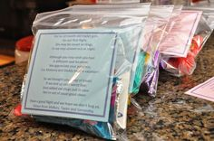 Team Patterson: DIY: Goodie Bags for Airplane Passengers