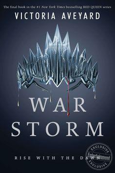 War Storm official book cover #RedQueen4 #WarStorm #VictoriaAveyard