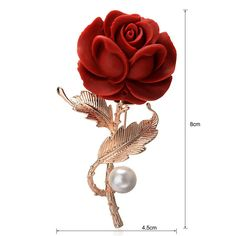 Beautifull red rose brooches for Women suit coat clips brooch pin Jewelry wedding gift Red Rose Flower, Rose Gold Color, Red Roses, Star Jewelry, Jewelry Sets, Gold Jewelry, Women's Brooches, Pearl Brooch, Brooch Pin