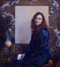 "Rose Frantzen ""Self Portrait"" Oil, 40"" x 50"""