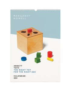 ABBATT TOYS THE RIGHT TOY FOR THE RIGHT AGE EXHIBITION AND CALENDAR 2021 Margaret Howell, Calendar 2020, Fashion Branding, Logos, Toy, Design, Logo, Clearance Toys
