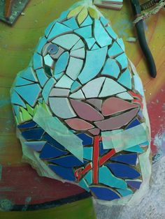 flamingo rock, pre grout.....special request made for my sister Loubie
