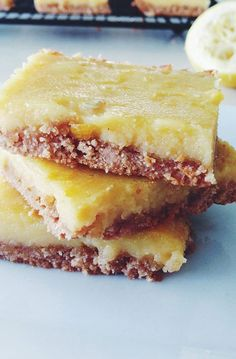 2. Lemon Bars #paleo #desserts http://greatist.com/eat/paleo-dessert-recipes