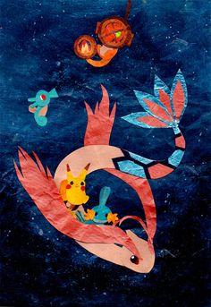 Pokemon Collage Art