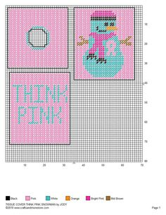 The Pink Snowman Tissue Box Cover Pg 2/2