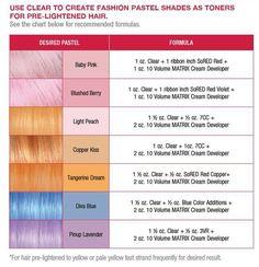matrix silver color formula - Google Search