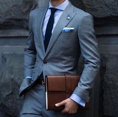 Gentleman Style — Business attire —– All. Best Suits For Men, Cool Suits, Der Gentleman, Gentleman Style, Men Formal, Formal Wear, Mens Fashion Suits, Mens Suits, Grey Suits