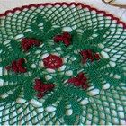 """ARTFIRE COLLECTION:  """"Holiday Greens"""" by Kathisewnsew    -- includes my Holly Berries and Leaves Holiday Doily - Round Placemat - Centerpiece  http://www.artfire.com/modules.php?name=Shop=listing_id=2557700"""
