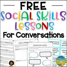 Use these lessons to teach critical social skills of conversations to kids, including how to start a conversation, using conversation-starters, finding things in common with others, and keeping a conversation going. This resource includes four complete activities with an educator