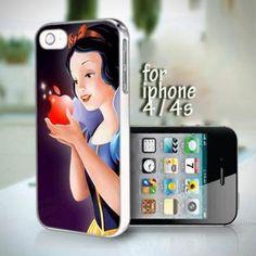 Snow White Disney Princess design for iPhone 4 or 4s case