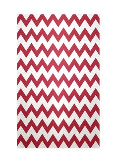 Chevron Red Indoor/Outdoor Area Rug