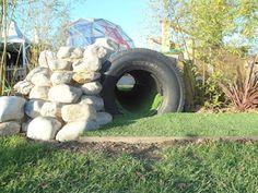 "Love this tyre tunnel at Alfreton Nursery ("",)"
