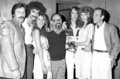Stevie backstage at the Roxy in May 1978 with Todd Rundgren  ~ she joined him on stage during his show   ~  her then-boyfriend Paul Fishkin and president of WB Mo Ostin  and others who were involved with concert