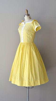 Sunnyside dress / vintage 1950s dress / cotton 50s by DearGolden