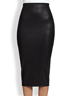 Robert Rodriguez Stretch Leather Pencil Skirt