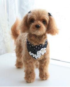 needle felting dog, cute